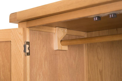 Concepts Tucson Oak 2 Door 2 Drawer Wardrobe