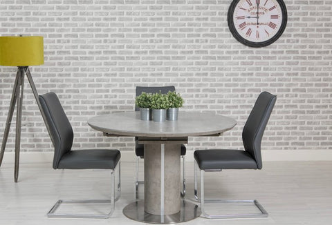 Concepts Contemporary Delta Round Extending Dining Table