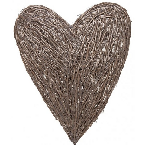 Concepts Extra Large Wicker Wall Heart