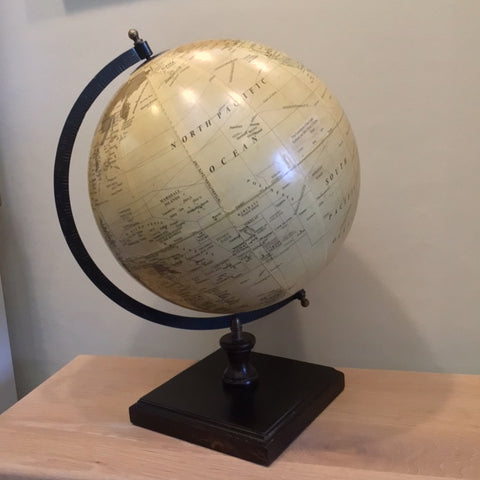Concepts World Globe on Wooden Base