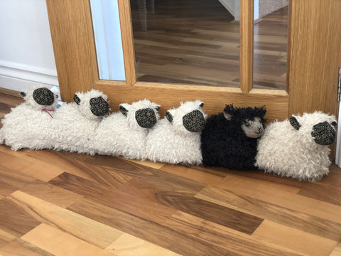 Dora Designs Black Sheep Of The Family Draught Excluder