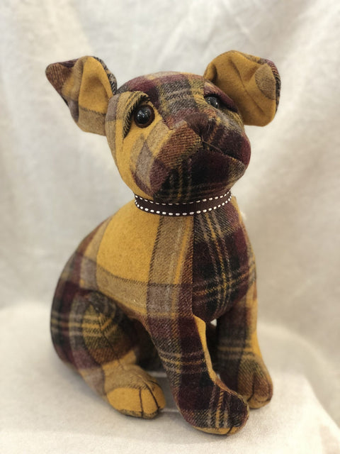 Dora Designs Calum Plaid Cairn Terrier Doorstop