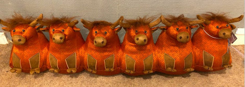 Dora Designs Catriona Senior Highland Cow Draught Excluder