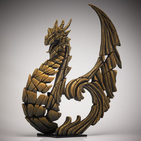 Edge Golden Heraldic Dragon Figure
