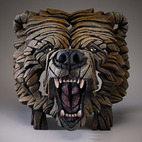 Edge Grizzly Bear Bust