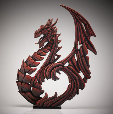 Edge Red Heraldic Dragon Figure