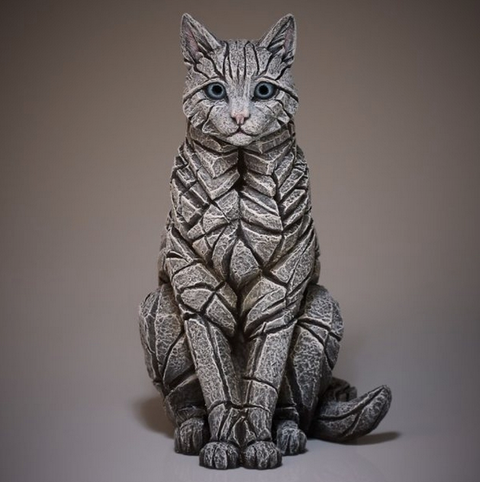 Edge White Sitting Cat Figure