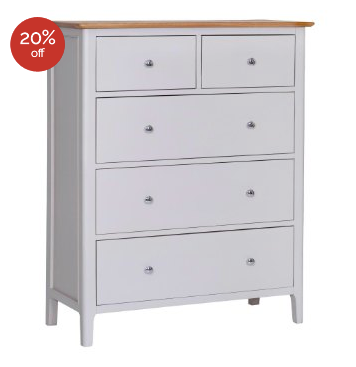 GoodWood by Concepts Helsinki Painted 2 Over 3 Chest Of Drawers - Various Sizes