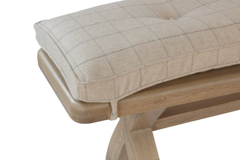 Concepts Hatton Oak 2m Bench Cushion Only – Natural Check