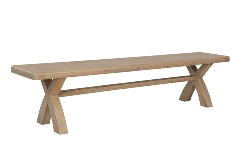Concepts Hatton Oak 2m Cross Leg Dining Bench