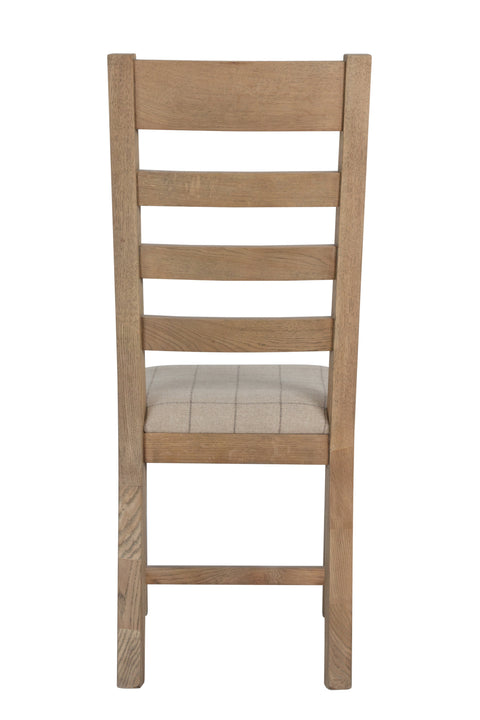 Concepts Hatton Oak Wooden Slatted Dining Chair (Natural Check)