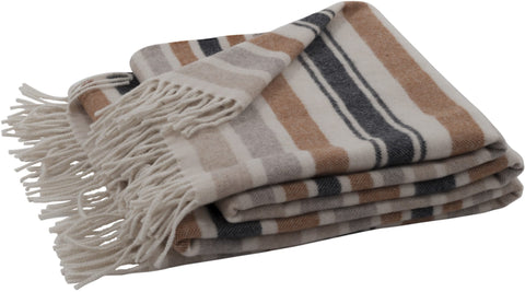 Neptune Castefield Stripe Throw - Mustard