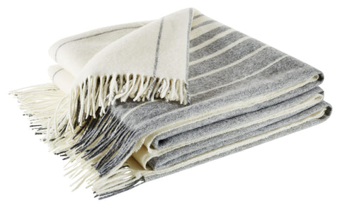 Neptune Cley Stripe Throw - Pebble