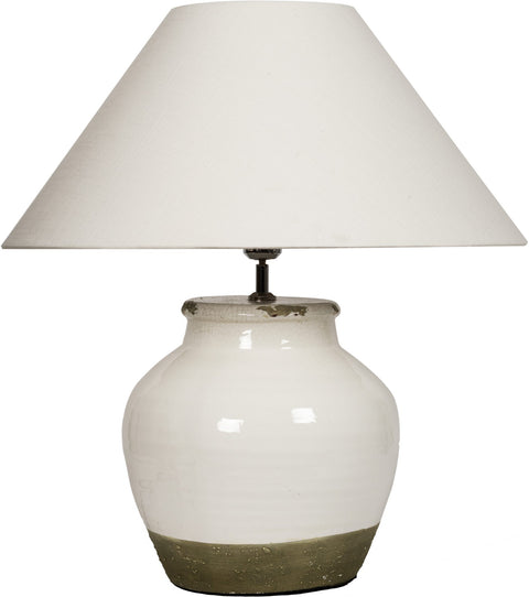 Neptune Corinium Medium Lamp Base with Oliver Warm White 22' Shade