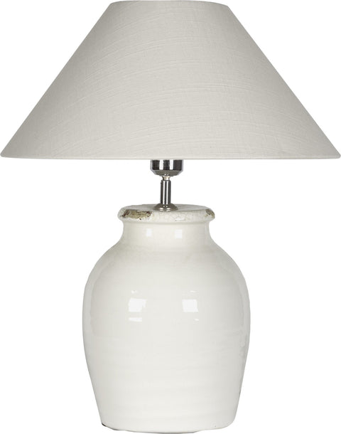 Neptune Corinium Small Lamp Base with Oliver Warm White 20' Shade