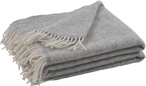 Neptune Cotswold Herringbone Throw - Shingle
