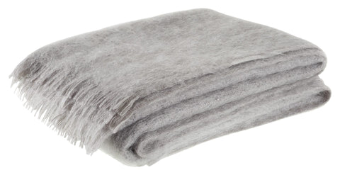 Neptune Cotswold Natural Mohairs Throw - Pewter