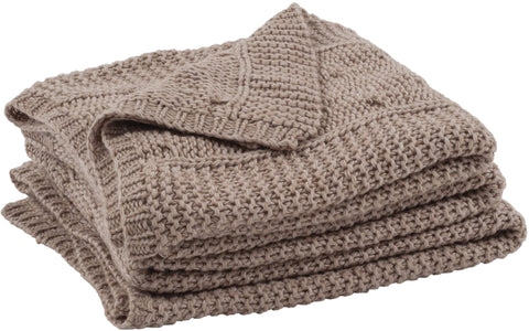Neptune Croft Cable Throw - Grey Oak
