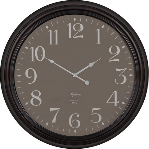 Neptune Harrison Antique Black Wall Clock - Various Sizes