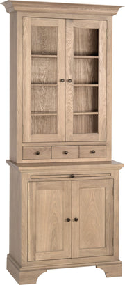 Neptune Henley Glazed Rack Oak Dresser - Various Sizes