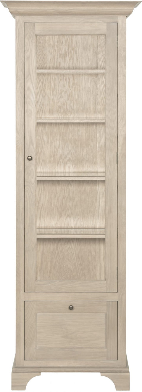 Neptune Henley Narrow Glazed Oak Cabinet - Various Options