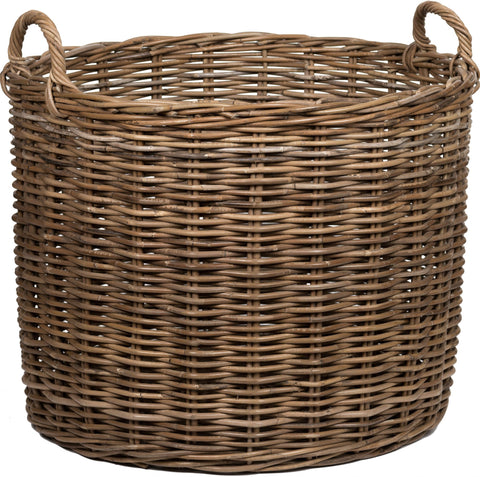 Neptune Somerton Round Log Basket - Various Sizes