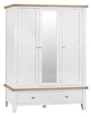 GoodWood by Concepts - Turner White Large 3 Door Wardrobe