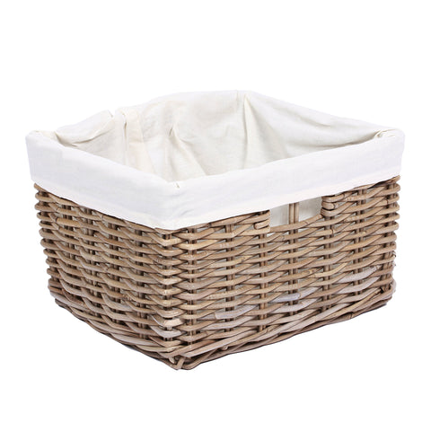 Concepts Wicker Rectangular Basket with Handles & Lining