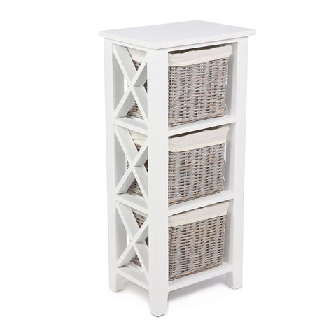 Concepts Wicker 3 Basket Cabinet with Linings