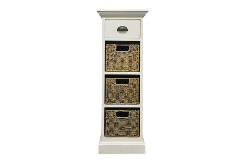 Concepts Wicker 1 Drawer 3 Basket Unit