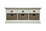 Concepts Wicker 3 Drawer 3 Basket Unit