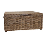 Concepts Wicker Rectangular Trunk Grey with Leather Handles - Various Colours
