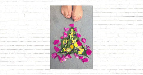 Flower Art with Toes Canvas Mini