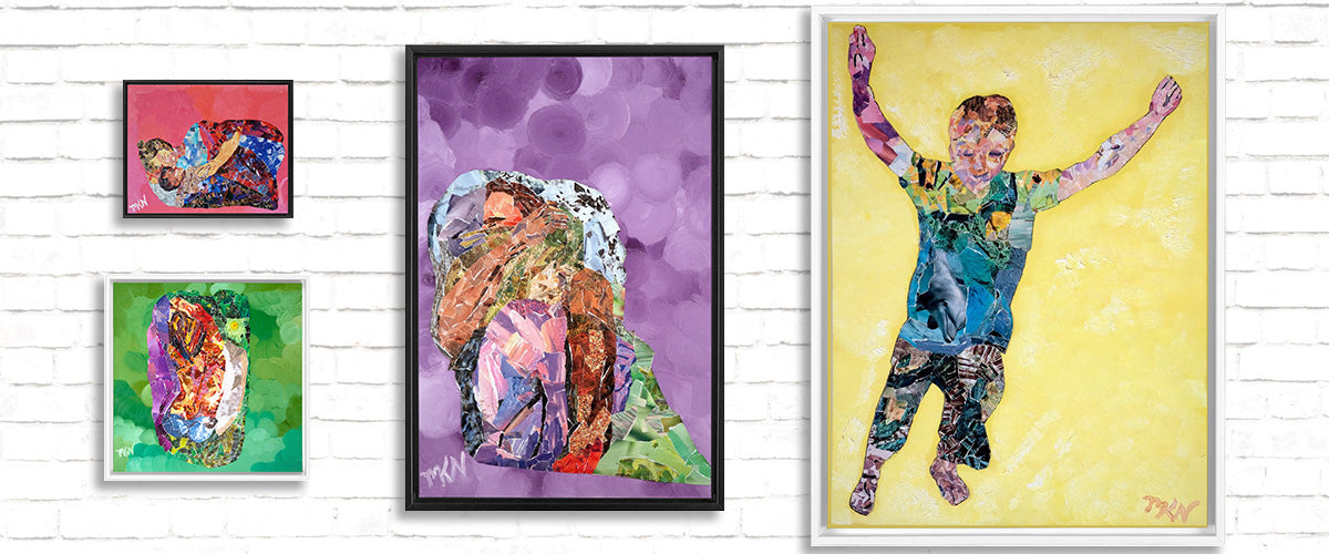 Collage Framed Canvas Prints