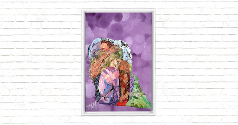 Sheltered in You Framed Canvas Wrap