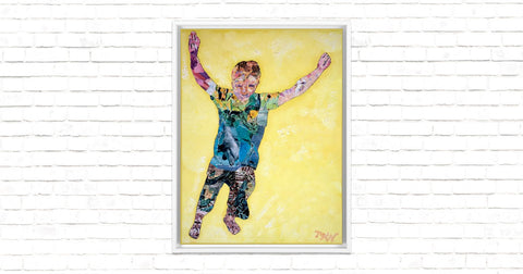 Taking a Leap Framed Canvas Wrap