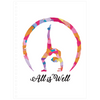 "Meghan Nathanson Artistry All is Well multicolor yoga backbend pose 80 page spiral bound 6.5"" x 8.75"" notebook"