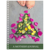 "Meghan Nathanson Artistry A Mother's Journal 80 page spiral bound 6.5"" x 8.75"" notebook with flowers and toes"