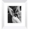 Meghan Nathanson Artistry black and white photo of child and frog 8x10 framed print