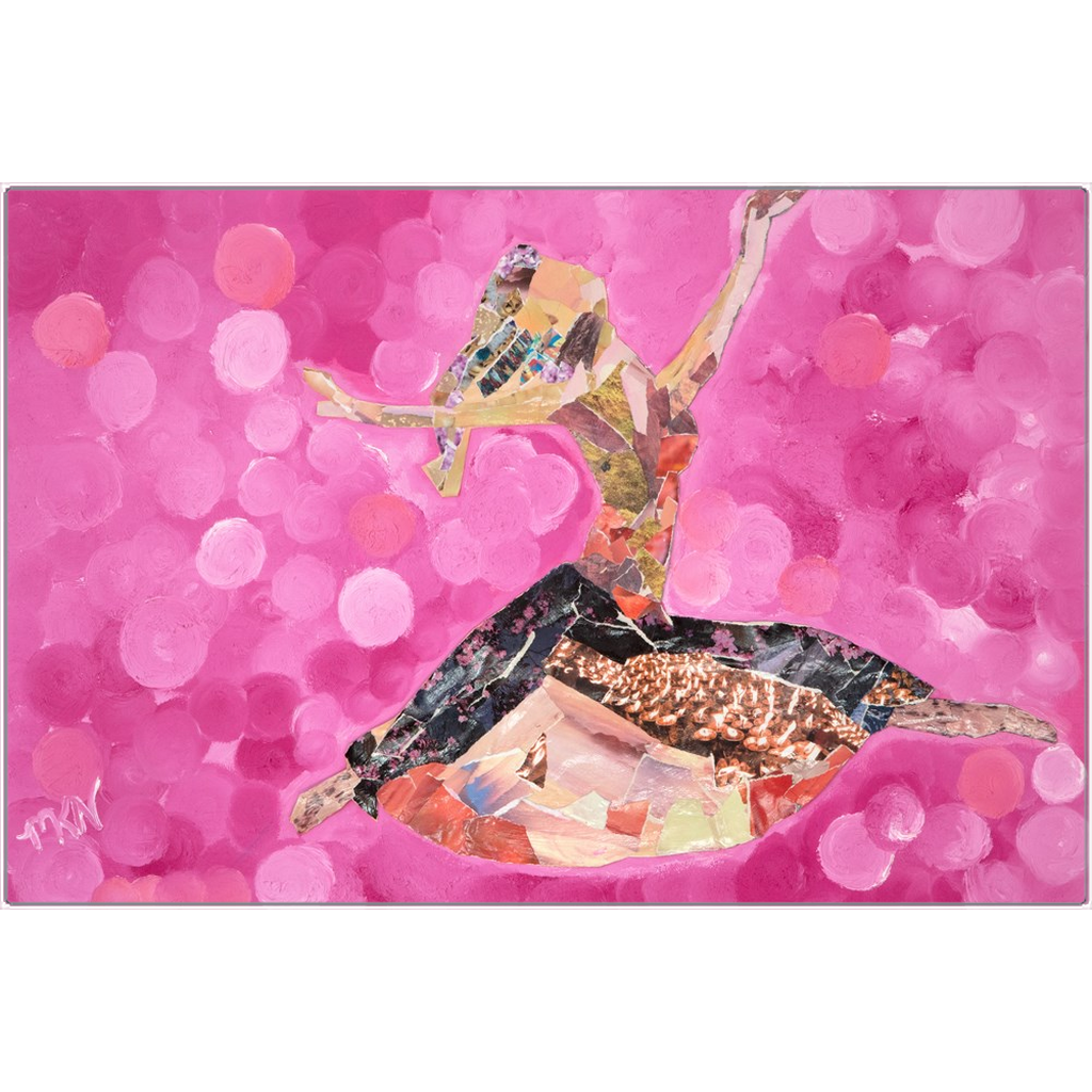 Meghan Nathanson Artistry woman dancing collage art on metal print
