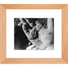 Meghan Nathanson Artistry black and white photo of a child's hands holding a worm 8x10 framed print