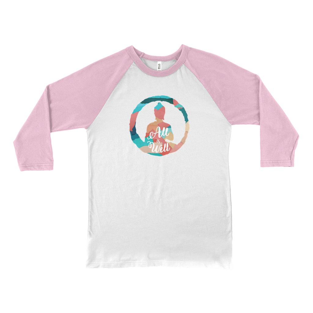 All is Well Colorful Baseball Tee