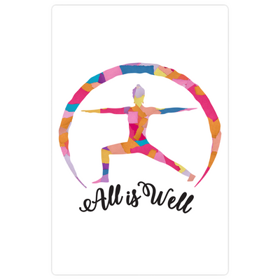 "All is Well ""Warrior Pose"" Magnet"