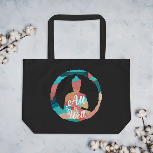 All is Well Large Eco Tote Bag
