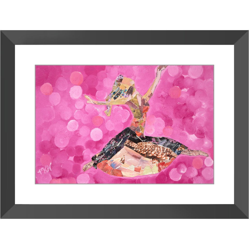 Meghan Nathanson Artistry woman dancing collage art framed print