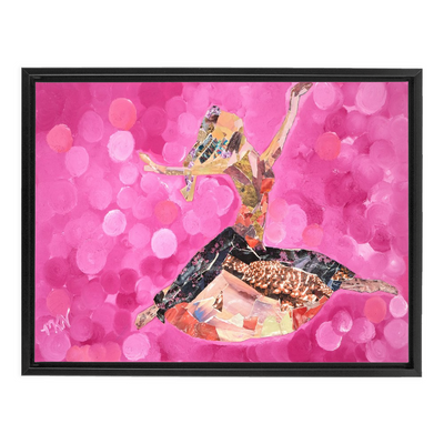 Meghan Nathanson Artistry woman dancing collage art on canvas wrap framed
