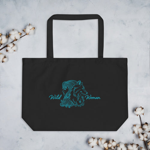 Wild Woman Large Eco Tote Bag