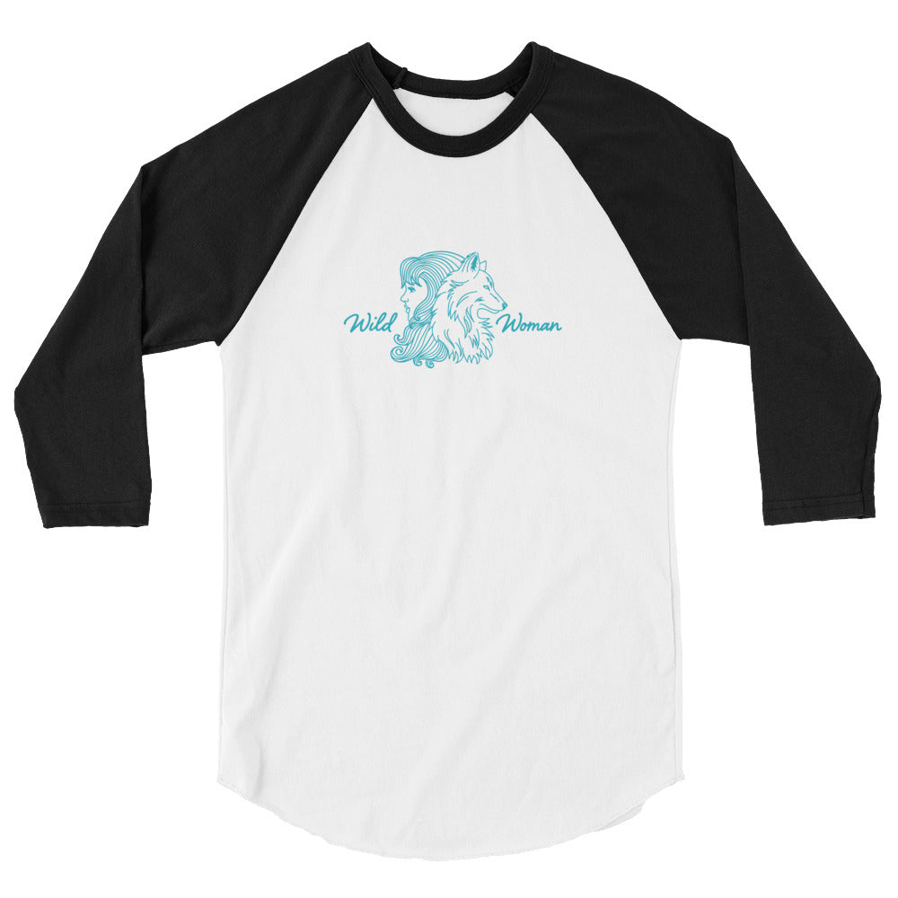 Wild Woman 3/4 Sleeve Raglan Shirt