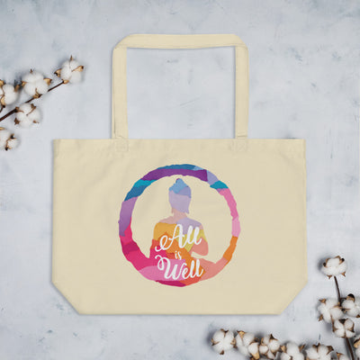 All is Well Large Eco Tote Bag—Currently out of stock, but will return soon!