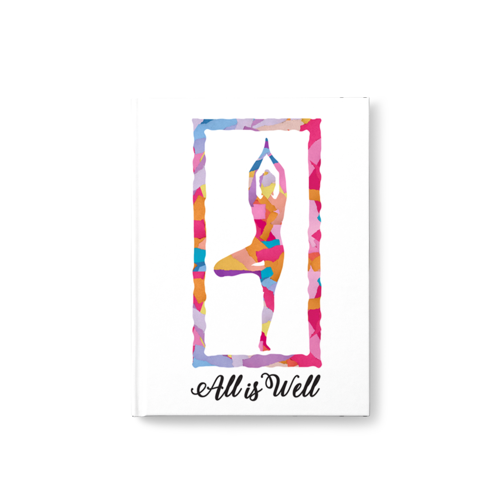 Meghan Nathanson Artistry All is Well multicolor yoga tree pose design 80 page journal